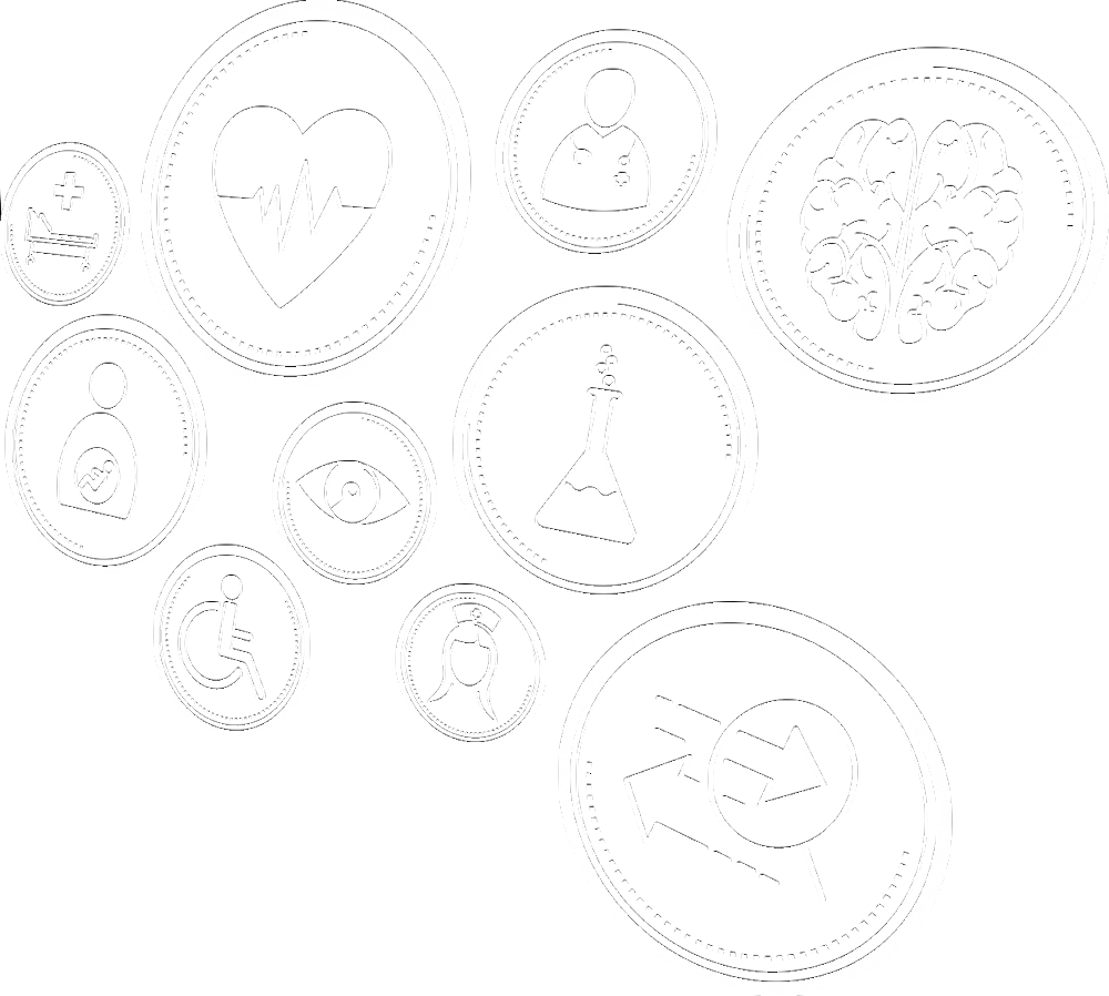 Healthcare-related icons to show the connection between electronic case reporting and public health